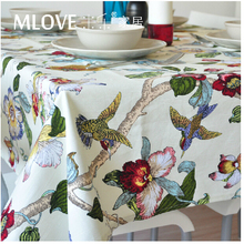 High quality Cotton Fabric Dining Tablecloth Rectangle Table Cloth Home Decoration  Wedding Decor Hotel Restaurant Fabric Cover