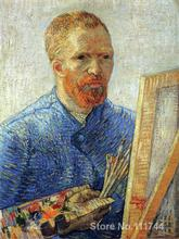 Modern art Self Portrait as an Artist by Vincent Van Gogh paintings for living room Hand painted High quality(China)