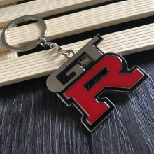 Fashion Metal Car Logo key ring keyring keychain key chain Chaveiro for Nissan GTR skyline kawasaki R32 R34 R351400 Auto Pendant