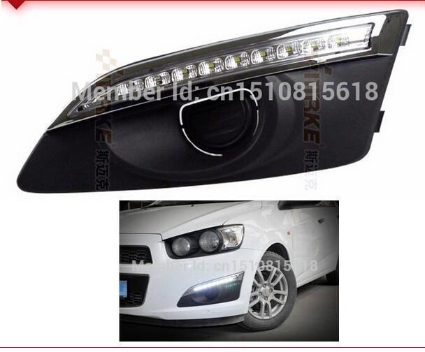 for Chevrolet Aveo LED DRL 2011-2013 Sonic drl led driving fog lamp cover 1W LED lights Car Styling Daytime Running Light <br><br>Aliexpress