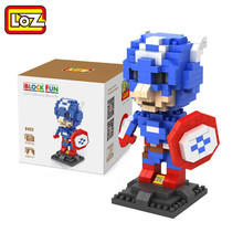 LOZ mini Block Action Figure Diamond Building Iron Man Captain America Thor Superman Hulk Juguetes Birthday Gift boy - Annzhou toy Store store