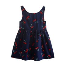 Summer Kids Baby Girl Dress Sleeveless Print Pattern Cotton Dresses Clothes For Girls  Children Toddler vestidos