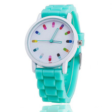Vansvar Brand Jelly Silicone Watch Relogio Feminino Fashion Women Wristwatch Casual Luxury Watches Hot Selling 369