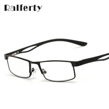 Ralferty Small Square Frame Hyperopia Eyeglasses Prescription Reading Glasses Men Women Business Far Sight Eyewear oculo de grau