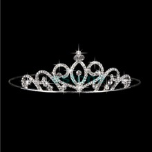 Stunning Wedding Bridal Princess Crystal Prom Hair Tiara Crown Veil Headband