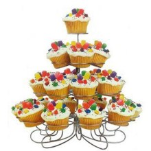 4 Tiers 23Cups Cake Bracket Tray Christmas Tree Design Cake Holder Dessert Stands for Festival Birthday Party