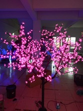 Christmas New year LED Cherry Blossom Tree 864pcs LED Bulbs 1.8m/6ft Height 110/220VAC Rainproof Outdoor Usage(China)