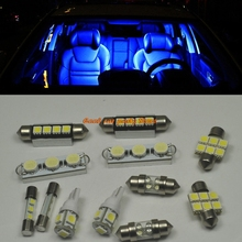 10pcs Bright Blue SMD LED Interior Light Package Kit For 2003-2013 Ford Expedition(China)