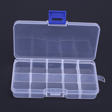 NEW 10 Compartments Storage Case Box Transparent Fishing Lure Square Fishhook Box Spoon Hook Bait Tackle Box Fish Accessory Box
