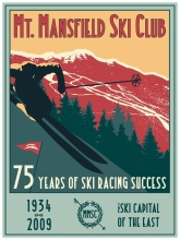 MT.Mansfield Ski Club Vintage Retro Kraft Decorative Paintings Poster Maps Home Bar Posters Wall Decor Gift Wood Alloy Frame(China)
