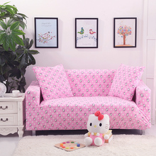 Pink sofa cover slip-resistant cover elastic for full sofa Single/Two/Three/Four seat sofa cover polyester Covers for furniture