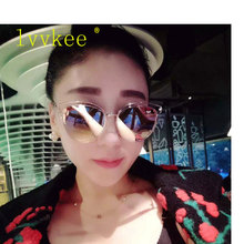 2017 New Fashion Women Brand Design Cat Eye Sunglasses Luxury Metal Frame  Mesh butterfly Sun Glasses  Vintage Oculos de sol