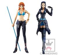 Banpresto DXF One Piece Namei Nico Robin Action Figures Anime One Piece Film Gold Vol.2 Nami Robin Model Toy Doll Figuras