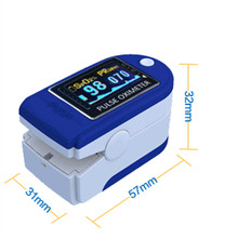 hot selling fingertip pulse oximeter spo2 monitor pulse oximeter module CMS 50D SPO2 and pulse rate with colour box packing(China)