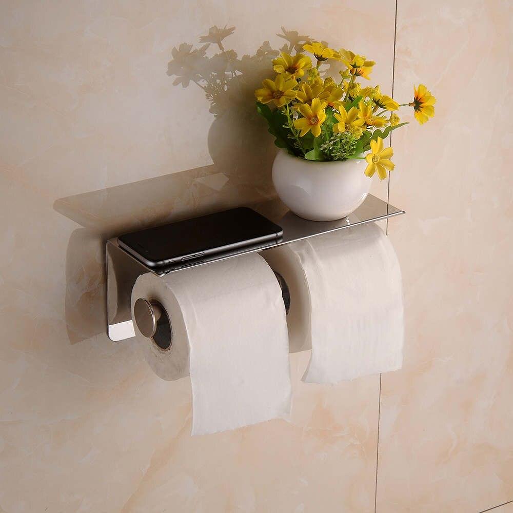 Держатель туалетной бумаги с полочкой своими руками