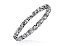 1ct SONA Diamond Bracelet Wedding Wholesale 18K White Gold Plated High quality Jewelry Hand Chain Bracelet For Women(China)