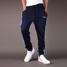 Brand 2017 Men Good Quality Cotton Joggers Casual Harem Sweatpants Sporting Pants Man Tracksuit Bottoms Sportes Trousers