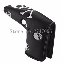 Free Shipping Black and White Big Skull Headcover Golf Putter Cover Blade Style Golf Club Cover Head Cover OEM Available