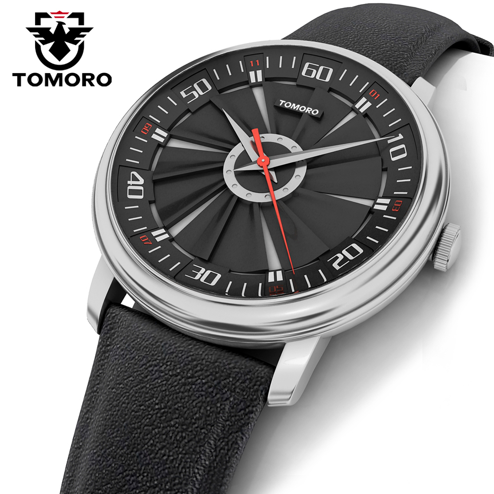 TOMORO 2017 New Luxury Brand Fashion Sport Quartz Watch Men Woman Unisex Army Military Calfski Leather Strap Wristwatch<br>