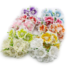 1bundle/lot(6pcs/bundle) Diameter 35mm Silk Artificial flower Bouquet Wedding Decoration Mini Flowers For dector 027010016
