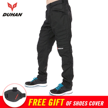 DUHAN Men's Windproof Motorcycle Pants Trousers Motorbike Pantalon Moto Pants Protective Gear Motocross Pants Protector Armor(China)