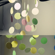 2m Holiday Party Wedding Room Classroom Decor Wall Decorations Long Paper Garland Ornaments Curtain Wall Pop Disc 2m