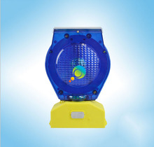New products blue LED light traffic Barricade light solar flashing led traffic warning light(China)