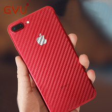 GVU Carbon Fiber 3D Soft Film For iPhone 6 6 Plus Film Clear Scratch-protection Back Film For iPhone 7 7 8 Plus Anti-Fingerprint(China)