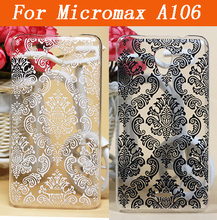 Cheap Good Quality Phone Back Case For Micromax A106 Vintage Paisley Flower Painted Case For Micromax A106 Hard PC Case