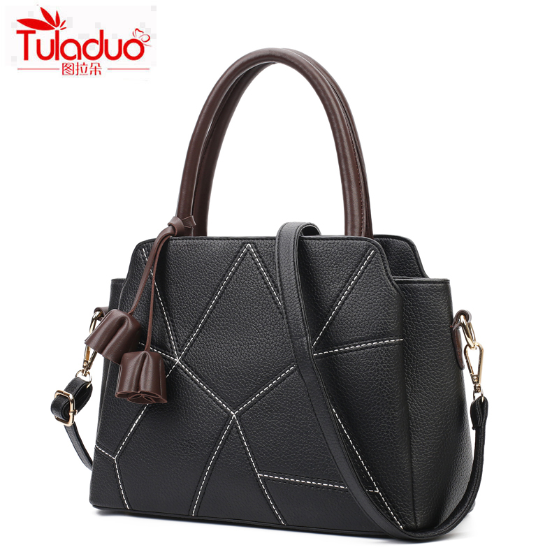 TULADUO Brand 2017 High Quality Leather Women Casual Tote New Fashion Ladies Handbags Famous Luxury Women Shoulder Bags Designer<br><br>Aliexpress