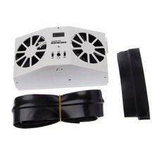 New Solar Power Car Cooler Auto Window Windshield Air Vent Cooling Exhaust Dual Fan System Cooler Car Styling High Quality C45(China)