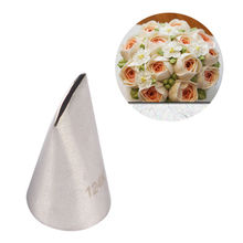 LINSBAYWU 124K# Rose Cake Cream Decorating Tip Sugar Craft Icing Piping Pastry Nozzles(China)