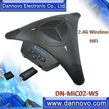 Free Shipping DANNOVO Wireless Microphone Speakerphone for Video Conferencing,Built-in Li-Battery, HiFi(DN-MIC02-WS)