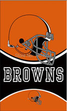 Cleveland Browns LOGO WORDMARK HELMET Flag 150X90CM Banner 100D Polyester3x5 FT flag brass grommets1006, free shipping(China)
