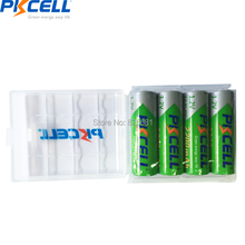4pcs pkcell NIMH AA 2200mah 1.2V Low self-discharge battery Rechargeable Batteries and 1pcs battery case for aa/aaa(China)