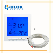 BEOK TOL63R-EP Blue Backlight House Warm Underfloor Heating Thermostat 16A 5+2, 6+1, 7 days program Thermoregulator Thermostat(China)
