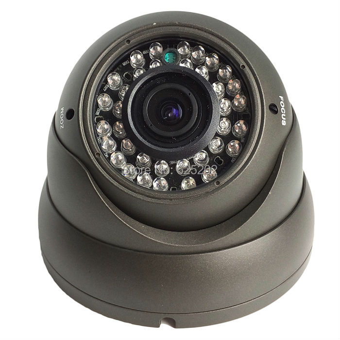 1200TVL CMOS  Night Vision IR Dome Surveillance CCTV Camera with Metal Casing 2.8-12mm varifocal lens<br>