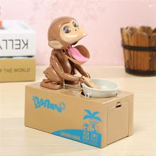 Automated Greedy Monkey Steal Coins Piggy Bank Antistress Toys Fun Practical Gift Useless Box For Children Games Toy(China)