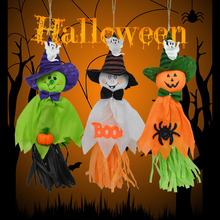 1 Pc 36x17cm Cute Ghost Hanging Hangtag Halloween Decoration  Kids Funny Joking Toys Festival Party Favors Supplies