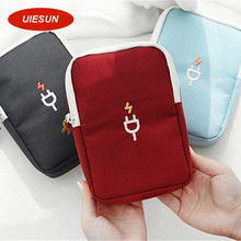 Newest Portable Digital Device Organizer Travel Storage Bag For iPhone Mobile Phone USB Cable Earphone Charger Box UIE193