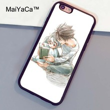 MaiYaCa Death Note L Near Mello Anime Manga Printed Soft TPU Rubber Back Cover Case For Apple iphone 6 6s Plus Phone Cases(China)
