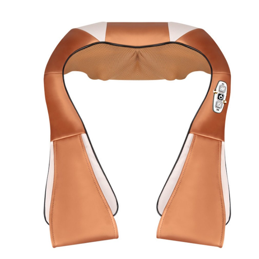 Electric Cape 16 Massage Heads Infrared Therapy Neck Back Waist Pain Relief Health Care Car Home Back and Neck Massage Device<br>