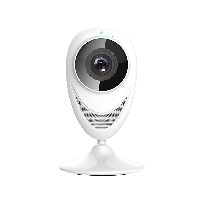 185 fisheye HD 720P night vision Motion Detection recorder WiFi panoramic baby security camera White<br>