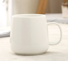 430ml oval ceramic mug with handgrip, special design blank high quality mug, logo printing is available(China)