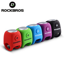 ROCKBROS Electric Cycling Bell 90 dB Waterproof Button Cell MTB Bicycle Handlebar Horn Silica Gel Shell Ring Bell Bike Accessory(China)
