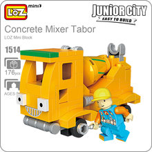 LOZ Mini Building Blocks Technic Cement Mixer Mini Concrete Mixer Toy Car Track Model Kit Plastic Assembly Toys Junior City 1514