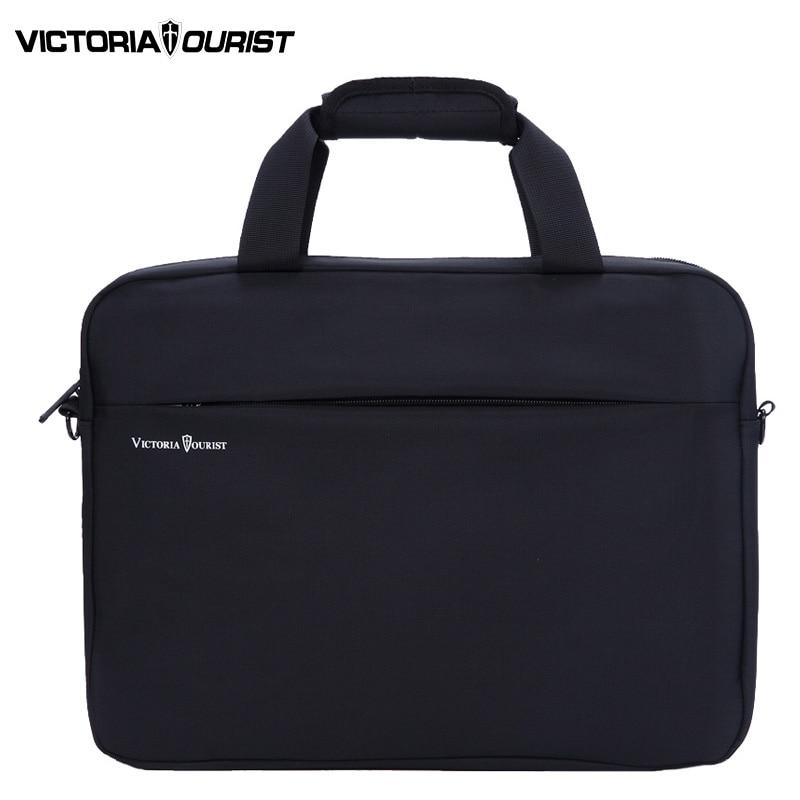 VICTORIATOURIST 15.6 inch laptop shoulder bag men/men  nylon crossbody bag / mens business bag/handbag for men/v7009 black <br>