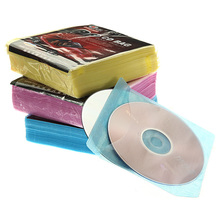 High Quality New 100 pcs/lot CD DVD Double Sided Cover Storage Case Plastic Bag Sleeve Envelope Hold