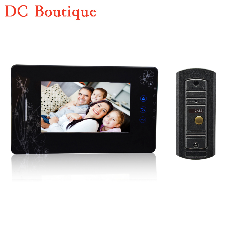 (1 set) 7 Inch Colorized Screen Intercom Phone One to One Video Door Phone System Door access Control Night Version Camera <br><br>Aliexpress