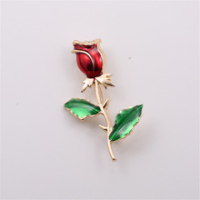 Free shipping The new drop glaze set auger high-grade corsage pin roses brooth sets